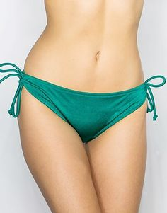 Womens sea green pour moi azure tie side bikini bottoms from Lipsy - £16 at ClothingByColour.com Tie, Green Fashion, Lipsy, Bikini Bottoms, String Bikinis, Sexy, Swimwear, Clothes, Color