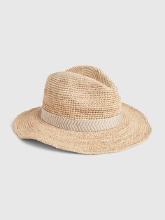 For more fit and sizing info, check out our Size Chart. Gap Outfits, Outfits With Hats, Straw Fedora, Fedora Hat, American Girl Crochet, Loose Jeans, Gap Women, Summer Hats