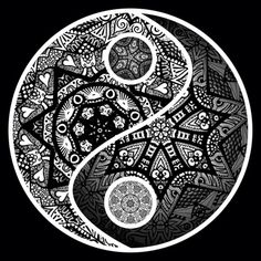 another cool yin yang -great tattoo LOVE this! | Tattoos ...