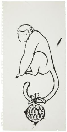 Monkey with Christmas Ball on Tail ANDY WARHOL (1928-1987)