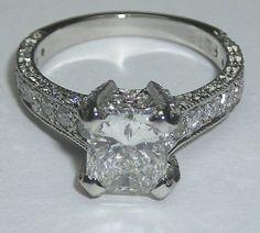 Product Details: 2.26 carat princess diamond engagement ring PLATINUM - i00.i.aliimg.com Holy Sparkle!