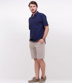 1c70435f863 Camisa em Linho com Bolso - Lojas Renner. Camisa Masculina Manga  CurtaCamisas ...
