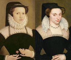 Portraits de dames de la bourgeoisie, années 1570