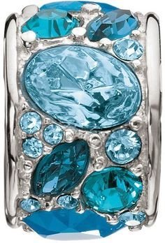 Aquamarine Blue #Pandora Charm Bracelet Bead.  This would be a great addition to almost any charm bracelet.
