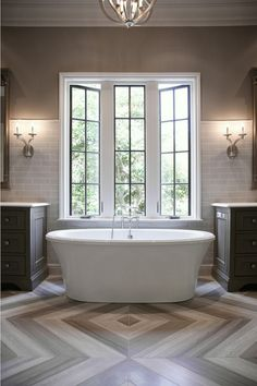 Bathroom. Bathroom Design. Gray bathroom with marble flooring. #Bathroom CR Home Design K&B (Construction Resources)