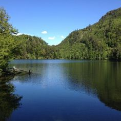 Headwater Austrian Lakes Walk. Lake view in Nussensee, Austria.