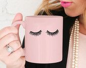 the cutest eyelash pink mug!