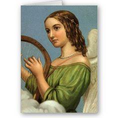 harp playing angel