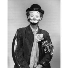 Front view of a man in a clown costume Canvas Art - (24 x 36)