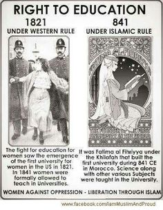 Women's right in Islam should be the same as a women's right in America. Yet our world has still not accepted this concept.