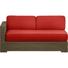 Sanibel Modular Left Arm Loveseat with Sunbrella® Caliente Cushions in All Sale | Crate and Barrel