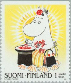 Lappland, Fuzzy Felt, Postage Stamp Art, Tove Jansson, Animated Cartoons, Mail Art, Stamp Collecting, Illustration, Fairy Tales