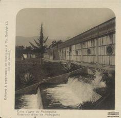 Caixa d'água do Pedregulho, no bairro de São Cristóvão, Rio de Janeiro, década de 1890. Arquivo Nacional. Fundo Fotografias Avulsas. BR_RJANRIO_O2_0_FOT_00444_057