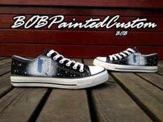 Low Top Black Converse Sneaker Custom Design by BoBPaintedCustom 280832b698f7