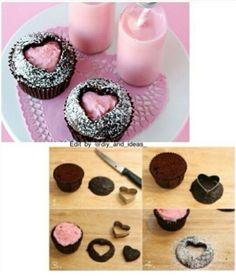 DIY Cupcake Heart Cutouts