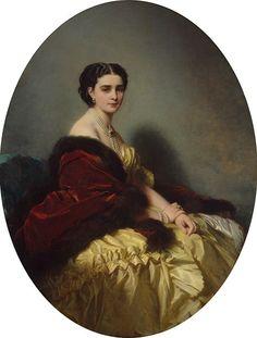 Portrait of Sophia Naryshkina by Franz Xaver Winterhalter