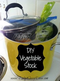 I'll be using this DIY vegetable stock come Saturday