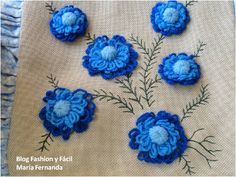 bordado con lana sobre tejido - Buscar con Google