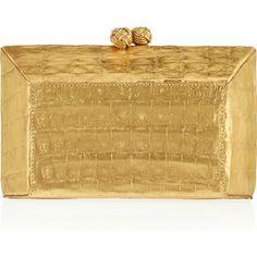 Nancy Gonzalez Metallic crocodile box clutch