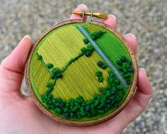 Aerial Embroidery Showcases the Hidden Patterns of Cultivated Farmland – Handstickerei Embroidery Hoop Art, Cross Stitch Embroidery, Embroidery Patterns, Creative Embroidery, Cross Stitch Art, Freehand Machine Embroidery, Hungarian Embroidery, Simple Embroidery, Embroidery Jewelry