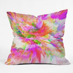 Adam Priester Color Explosion IV Throw Pillow | DENY Designs Home Accessories