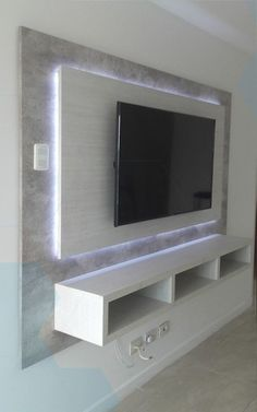64 best TV wall designs and ideas page 46 of 64 decoration Ceiling Design, Wall Design, Tv Wand Design, Living Room Lighting, Living Room Decor, Home Room Design, House Design, Tv Wall Cabinets, Modern Tv Wall Units