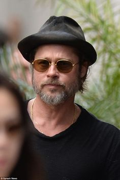 On the set: Brad Pitt was spotted on Wednesday on the set of his new movie The Big Short i...