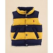 Ralph+Lauren+Childrenswear+Infant+Boys'+Varsity+Down+Vest+-+Sizes+9-24+Months