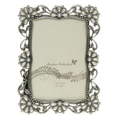 """Floral Pearl & Crystal 6x4"""" Photo Frame"""