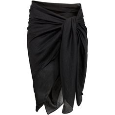 H&M Sarong ($4.55) ❤ liked on Polyvore featuring swimwear, cover-ups, skirts, sarong, black, black swimwear, sarong cover ups, sarong swimwear, h&m and h&m swimwear