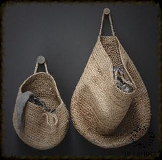 hanging woven baskets