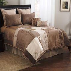 Fashion Street Natural 8-Piece Bedding Comforter Set, Beige