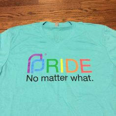 Shirts we printed for PPSWO Pride Volunteers.