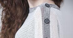 White grey knit sweater, women spring / autumn clothing, fashion summer knit top- boho style, fits all seasons. knitwear is not a seasonal item anymore. Women's Fashion Dresses, Skirt Fashion, Boho Fashion, Summer Knitting, Boho Style, Fall Outfits, Knitwear, Seasons, Autumn