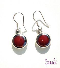 Aretes rojos de plata  $210 Xalsho joyería
