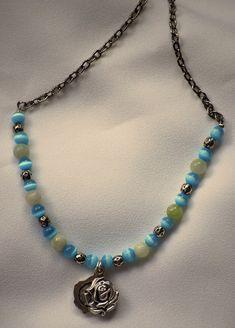 Locket Necklace  Spring Colors by AllToolsPrayerful on Etsy.