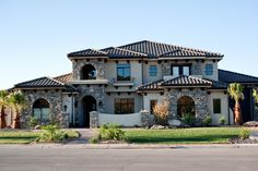 One of our Mediterranean style homes built in 2011 #american heritage homes #new home construction #southern Utah homes http://www.americanheritagehomesut.com/portfolio/gallery/