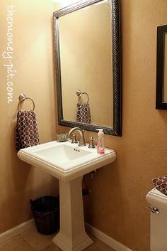 low-cost powder room designs #31320