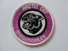 Old Collectible Arctic Cat Snowmobiles Advertising Logo with The Cat Patch Mint | eBay