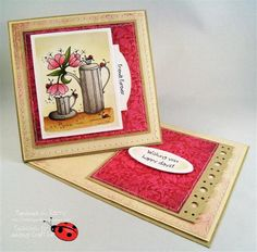 Coffee Delight from Floral Delight Too digital image series at Ladybug Crafts Ink Ladybug Crafts, Coffee Cards, Parchment Craft, Friendship Cards, Coffee Love, Digital Image, Printer, Stamps, Paper Crafts
