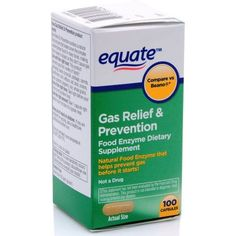 Equate Gas Relief & Prevention Food Enzyme Dietary Supplement Capsules, 100 Ct, Not A Drug Prevent Bloating, Gas Relief, Complex Carbohydrates, I Feel Good, Drugs, Cruise Vacation, Disney Cruise, Vacations, Peanuts