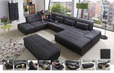 Lomo von Megapol Wohnlandschaft granite schwarz Polstermöbel online kaufen