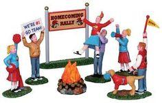 Homecoming Bonfire, Set of 7, B/O (4.5v) - Lemax Christmas Village Accessory