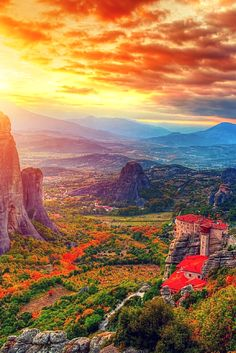 Meteora, Greece --- greece is one of the most beautiful places on earth, I'm so proud to be greek (and croatian) and able to experience these places :) Places Around The World, Oh The Places You'll Go, Travel Around The World, Places To Travel, Places To Visit, Around The Worlds, Mykonos, Santorini, Beautiful World