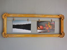 Vintage Style Clip Photo Frame-UpCycled Wood Picture by PippinPost