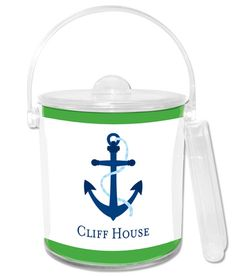 Personalized Anchor Ice Bucket