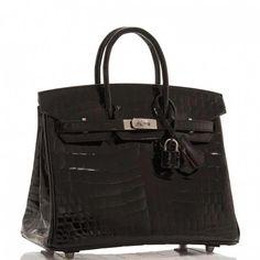 f45375e39b13 Hermes Birkin Bag 25cm Black Niloticus Crocodile Palladium Hardware Image 2   Hermeshandbags