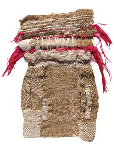 Sheila Hicks.  M'hamid, 1970; silk, vicuña, razor-clam shell