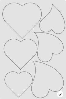 15 Ideas De Moldes Corazon Gratis Para Descargar E Imprimir En 2021 Plantilla De Corazón Corazones Molde De Corazon