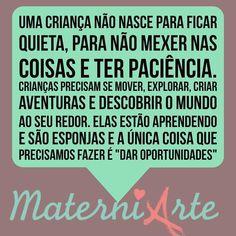 Pense nisso e bom dia!!!! #materniarte